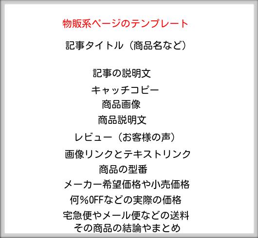 物販系ページの型